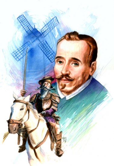 miguel de cervantes Works of miguel de cervantes miguel de cervantes led a busy life he lived in spain and italy, moving frequently, and was kept captive in algiers during 5 years he also fought in several battles, and in the battle of lepanto he lost the use of his left arm and was nicknamed the cripple of lepanto.